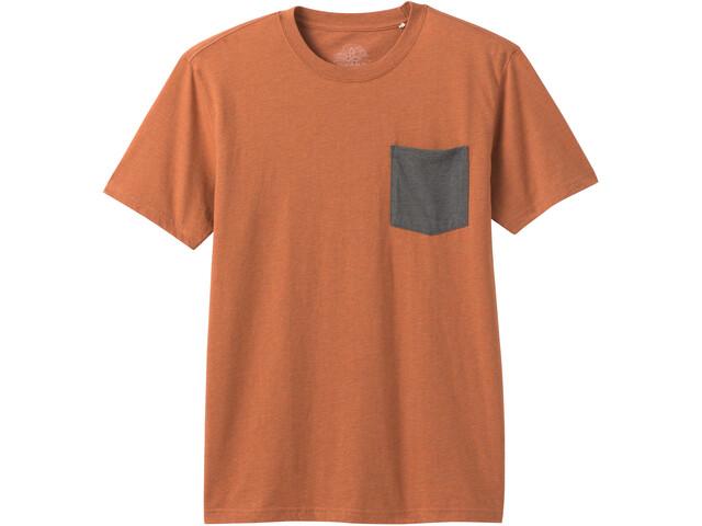 Prana Pocket Camiseta Hombre, naranja